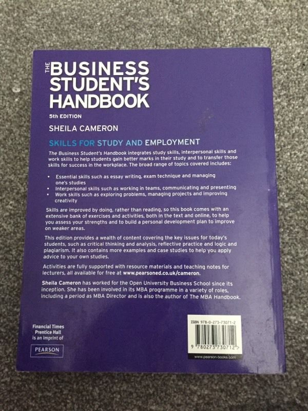 The business student's handbook.