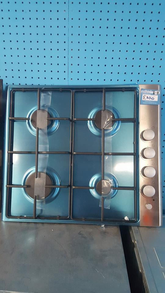 h06 stainless steel 4 burner gas hob GRADED with manufacters warranty can be delivered or collected