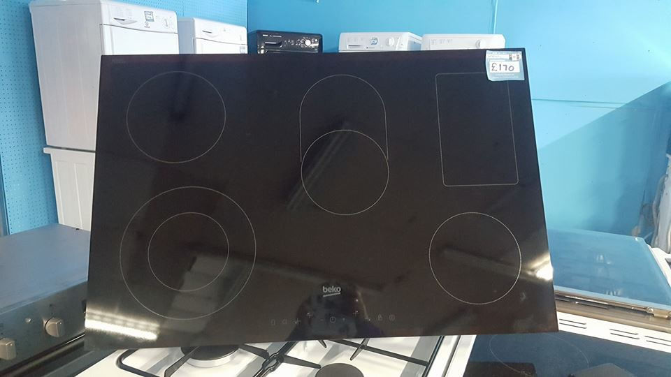 h01 black beko touch screen 5 burner hob GRADED comes with warranty can be delivered or collected