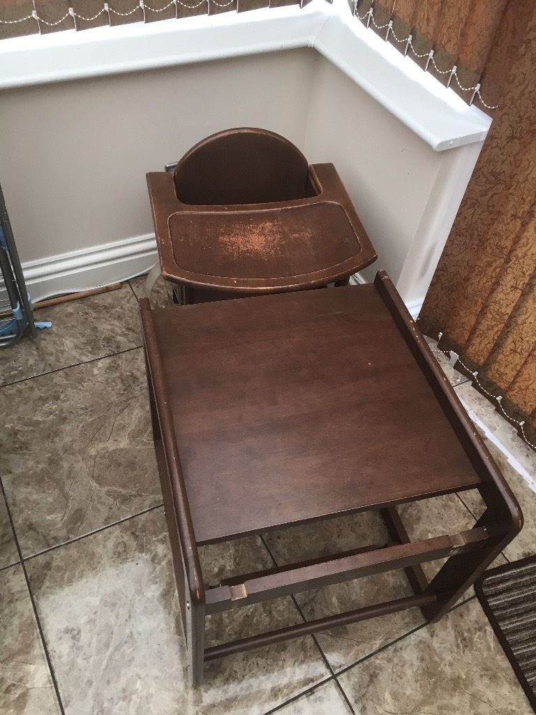 Free wooden child's high chair