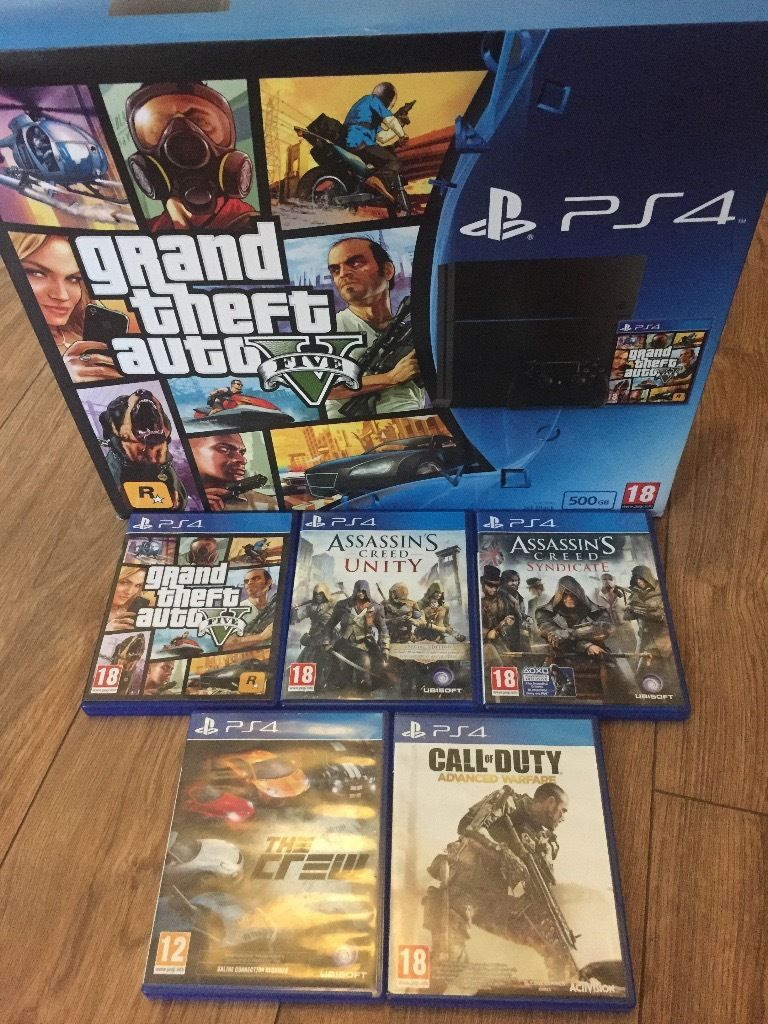 Playstation 4 Black 500GB Under warranty with 5 games.
