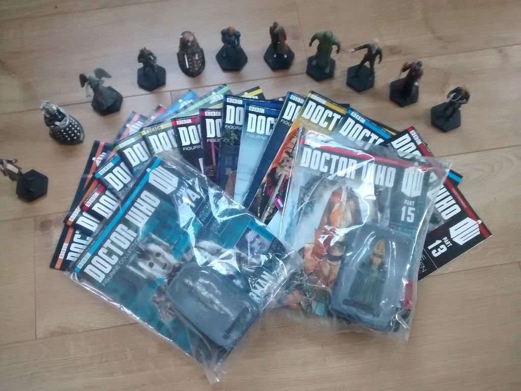 DR WHO MAGAZINES AND FIGURES collectable!!!