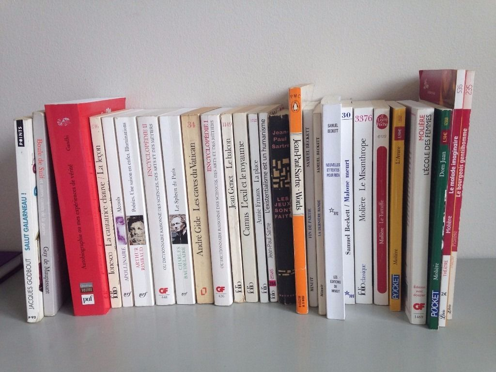 French Language Books - Moliere, Beckett, Sartre etc.