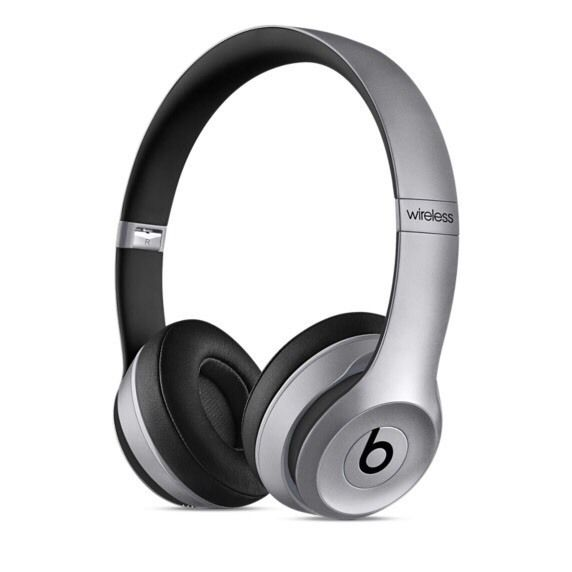 Beats solo 2 wireless over ear head phones in space grey