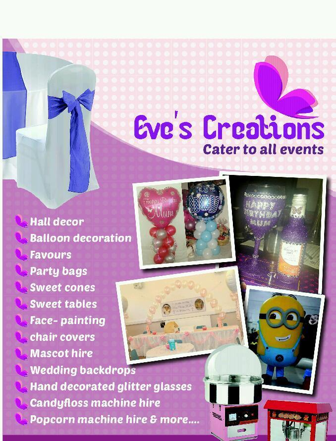 Face painting, Popcorn machine, Candy floss machine, mascots, balloon arches, hall decor and more!!!