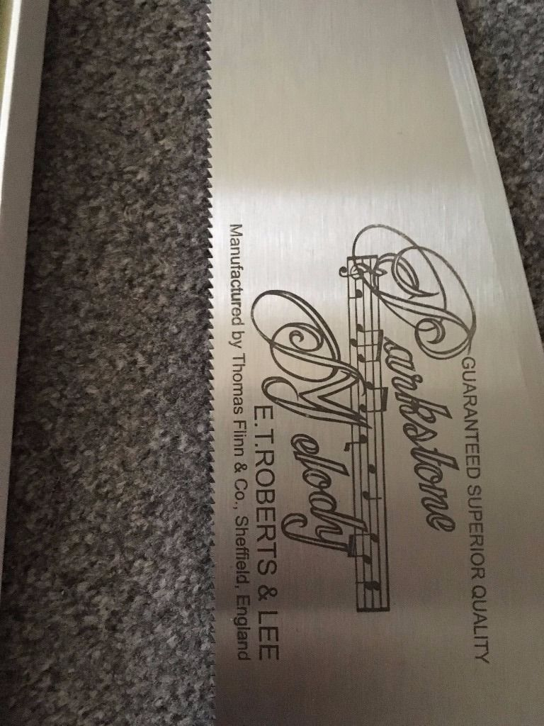 """ROBERTS & LEE PARKSTONE MUSICAL SAW 22"""" with bow"""