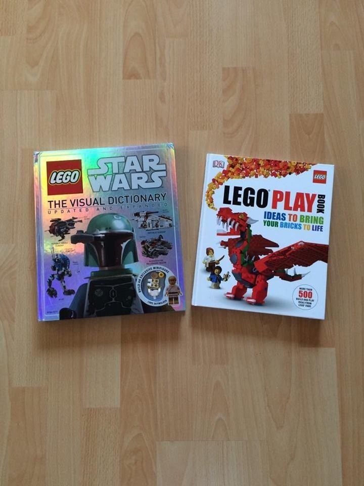 2 x Lego Books Star Wars Visual Dictionary + Exclusive Luke Figure & Legp Play Ideas Book