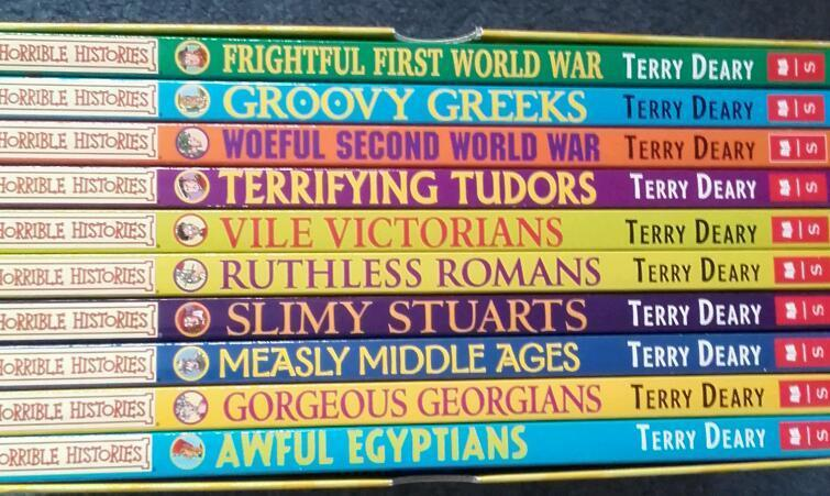 Set of 10 Horrible Histories Books in Excellent Condition