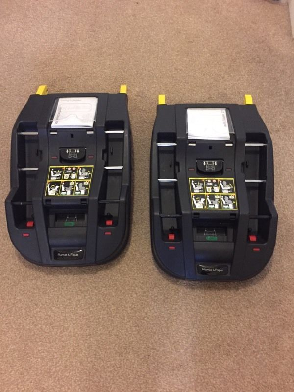 2 x mamas and papas isofix car seat bases