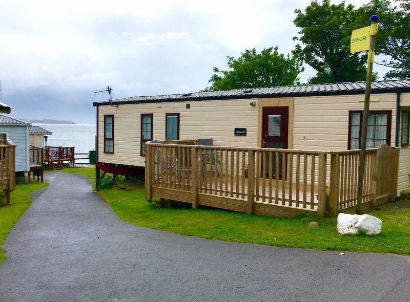 Prestige Standard 6 berth static caravan for sale at Lydstep Beach Tenby