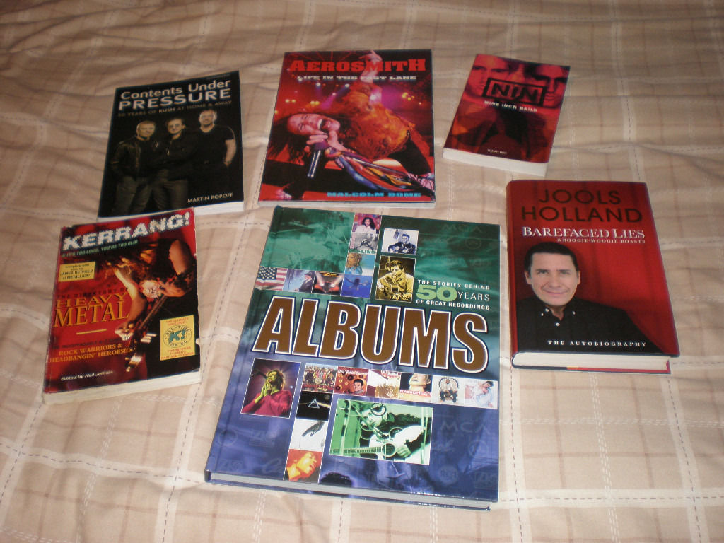 For sale -Rock music books - as pictured