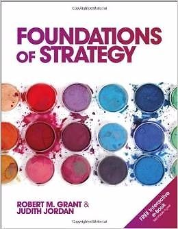 BRAND NEW Foundations of Strategy book by Grant & Jordan