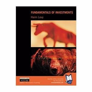 Fundamentals of Investment book by Haim Levy **BRAND NEW**