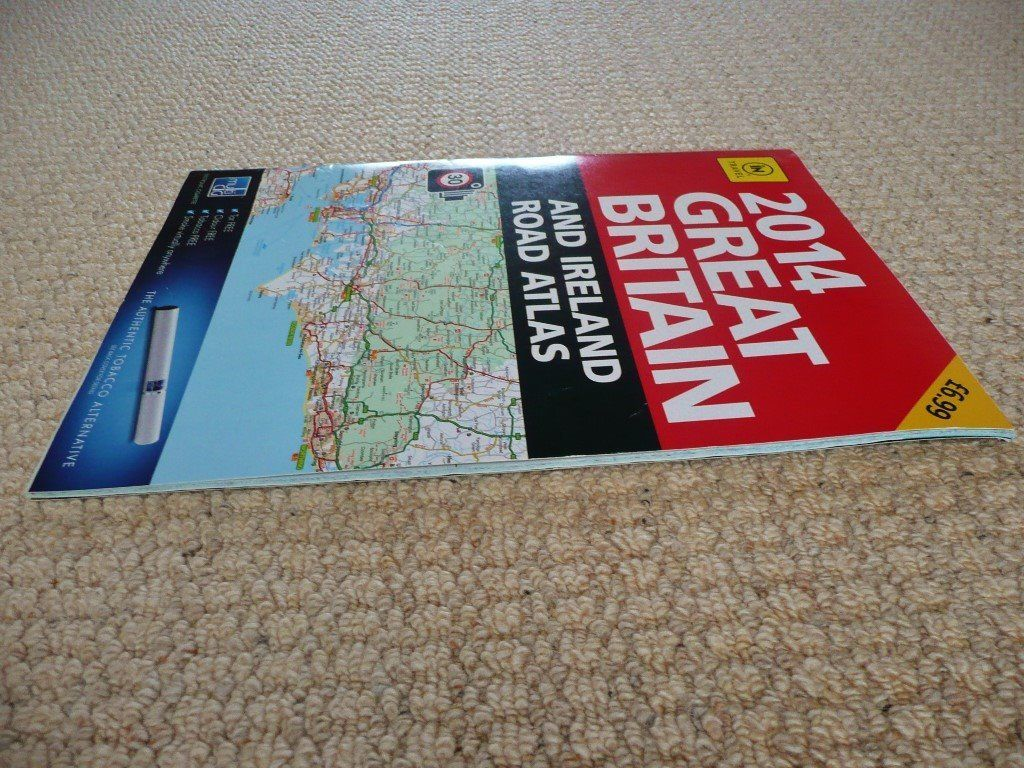 iN TRAVEL 2014 Great Britain and Ireland Road Atlas / Road Map Book Route Planner 3.95 miles to inch