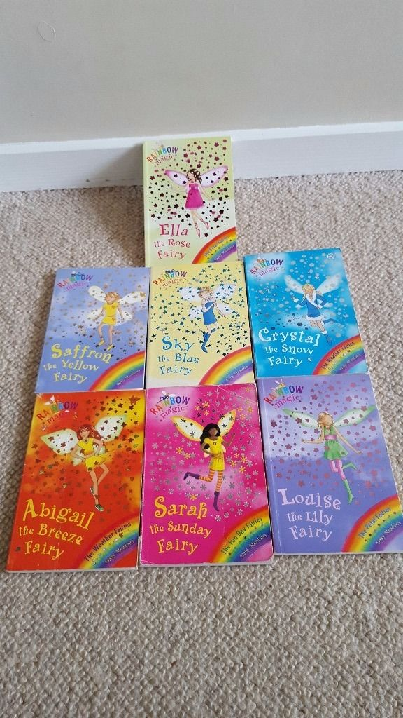7 rainbow magic fairy story books