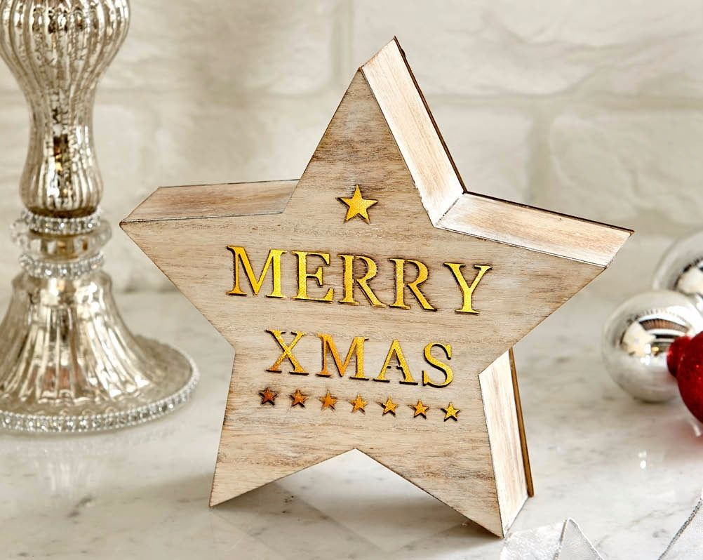 Woodlands Star Merry Christmas Box- Free Delivery