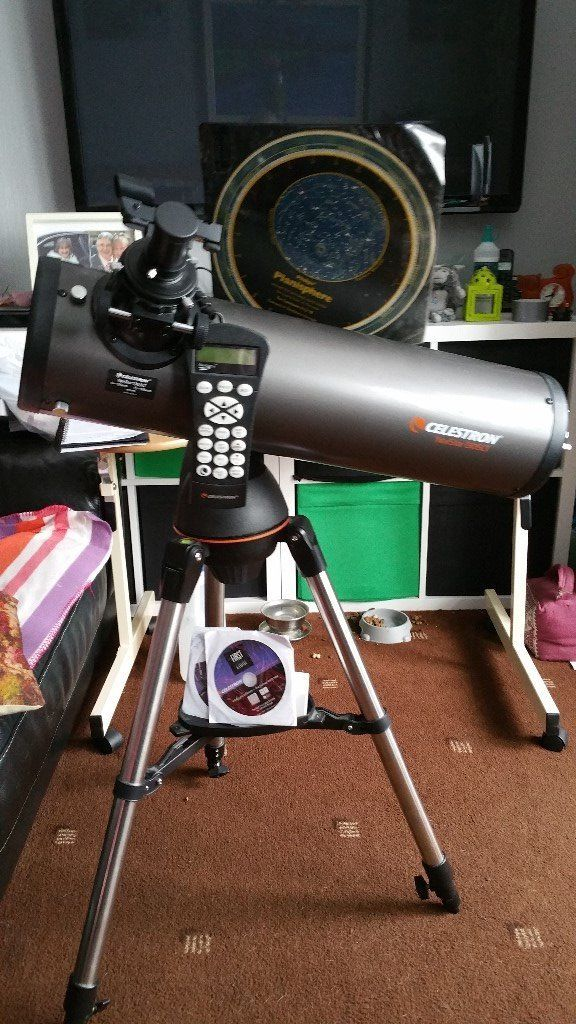 Celestron 6 inch Reflector Go To Telescope with sturdy Tripod & Slow Motion Mount.