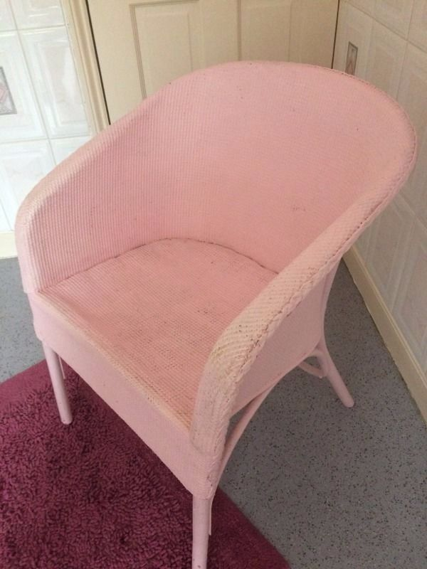 Pink woven chair
