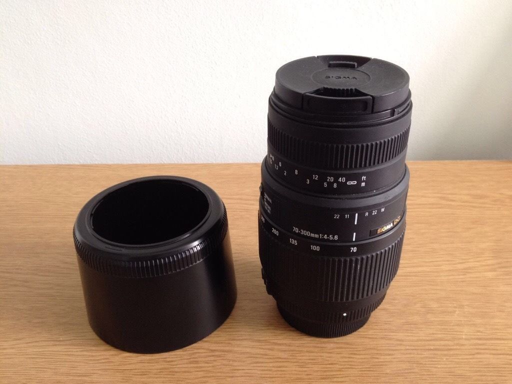 Sigma 70-300mm zoom lens