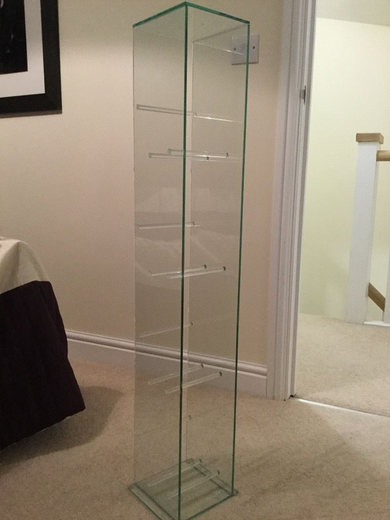 Toughened glass dvd / blu-Ray cabinet