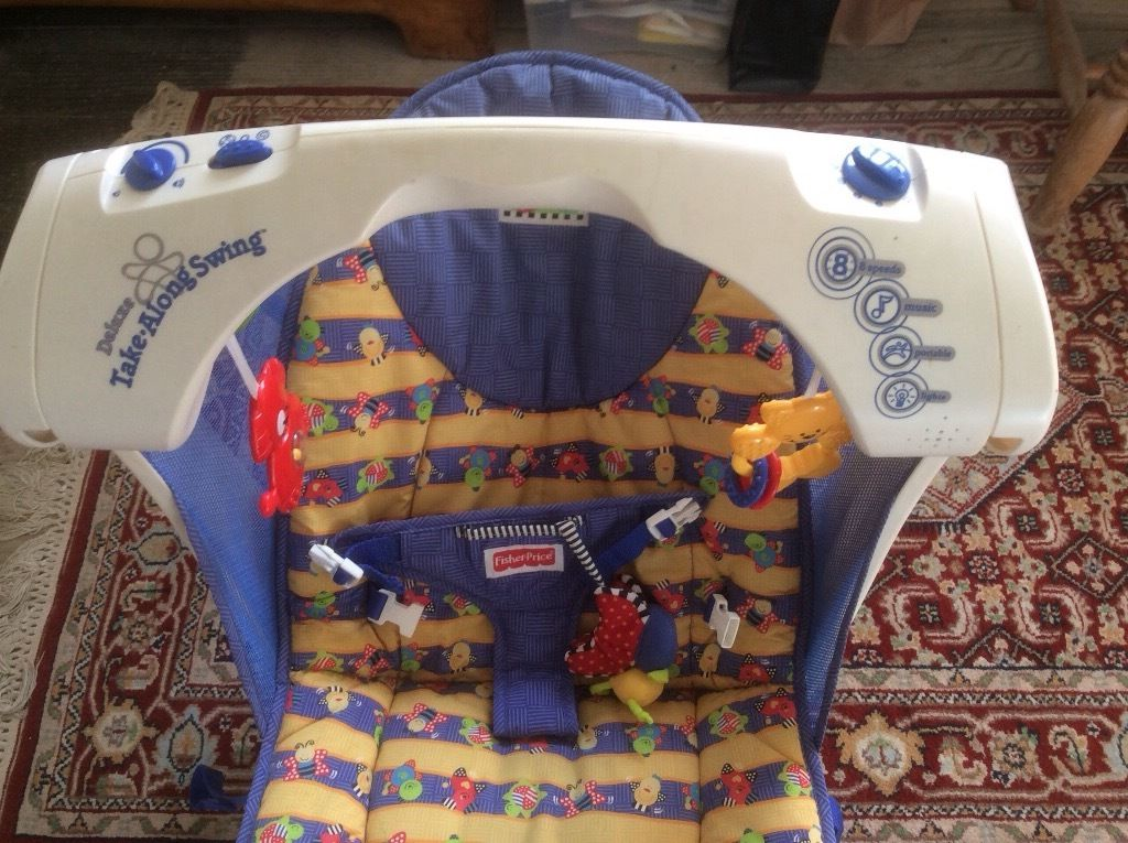 Fisher Price Baby Swing/Rocker with lights, auto rocking and hanging toys