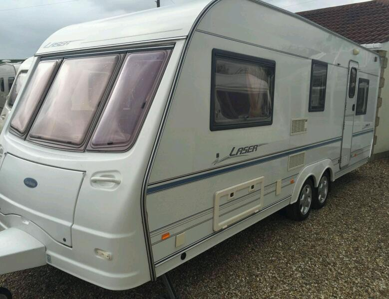 Coachman laser bunks both ends 5 berth twin axle touring caravan