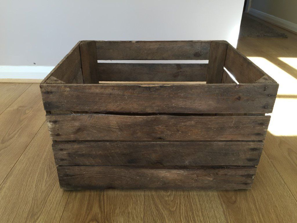 Rustic vintage wooden crate