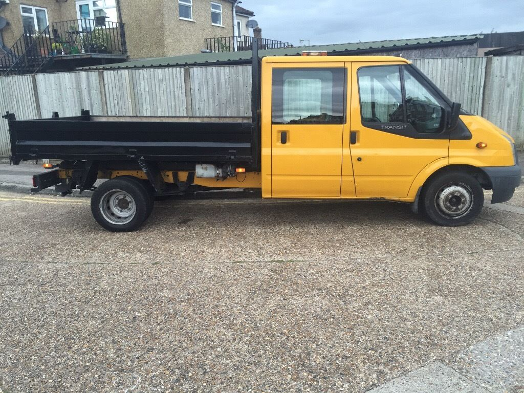 Ford transit crew can double cab tipper