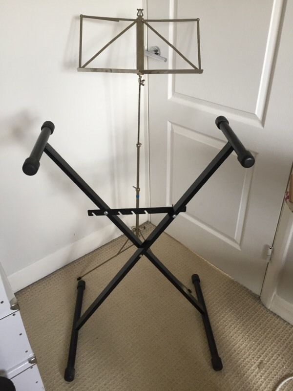 Sheet music stand AND keyboard stand