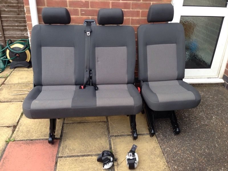 Vw T5 Transporter kombi Seats (2+1) in timo trim with seat belts