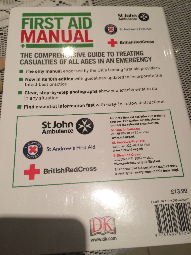 First Aid Manual *** British Red Cross *** ----- 10th Edition -- Brand New