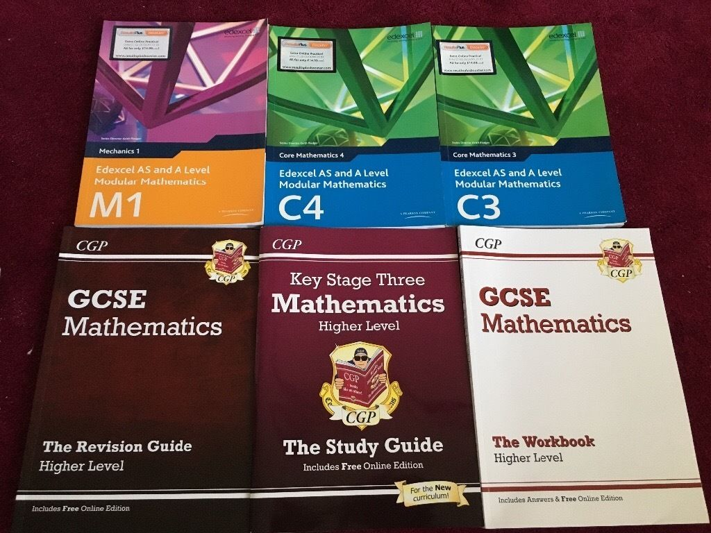Maths books KS3 - GCSE - A level