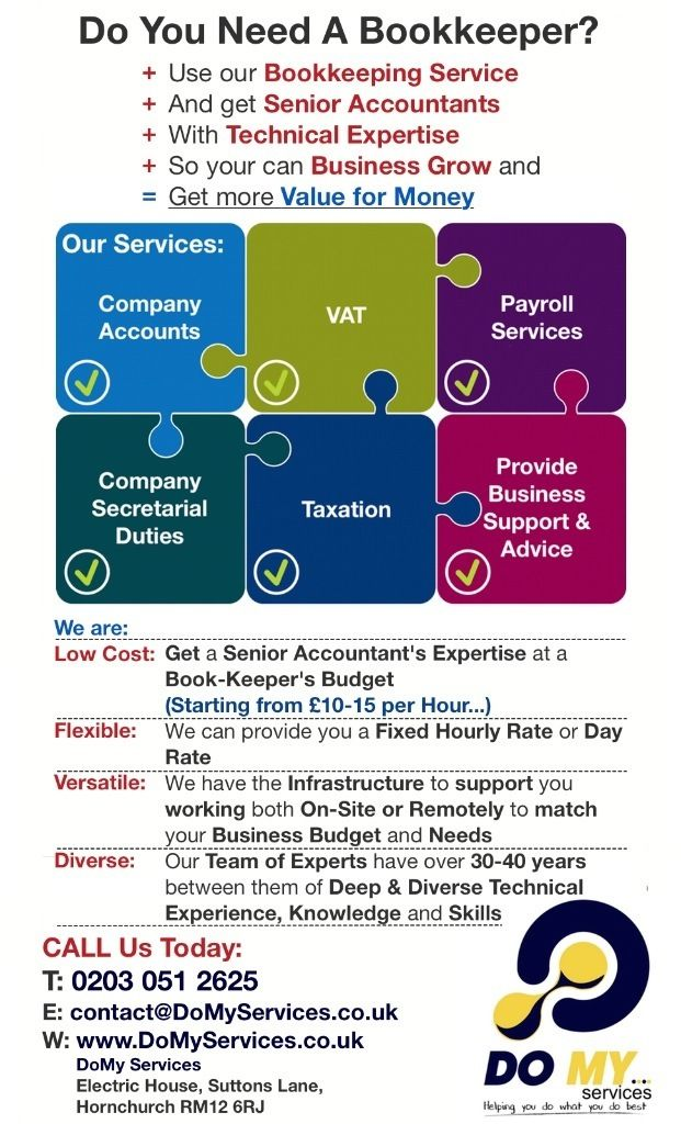 Bookkeeper/ Tax & VAT advisor and much more..