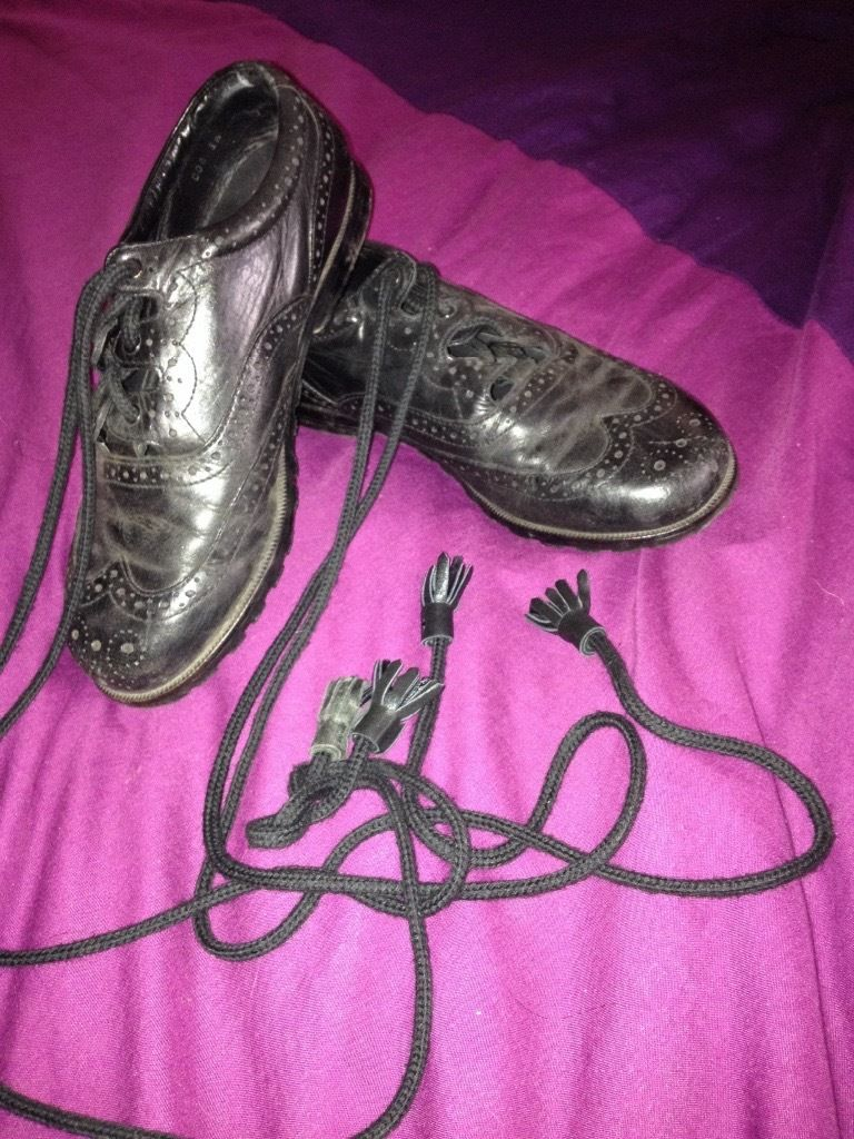 Black highland brogues size 3/3.5