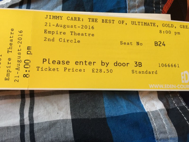 Jimmy Carr tickets Inverness