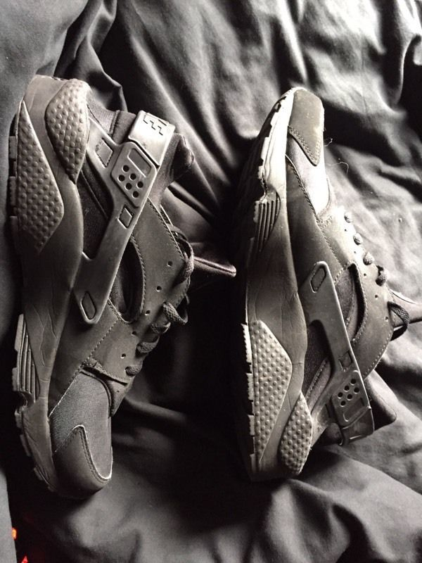 Nike Huaraches Triple Black, Size 12 for swap or sale!