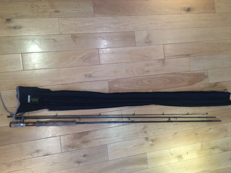 Daiwa 11' 3'' fly fishing rod with cloth bag and protective tube