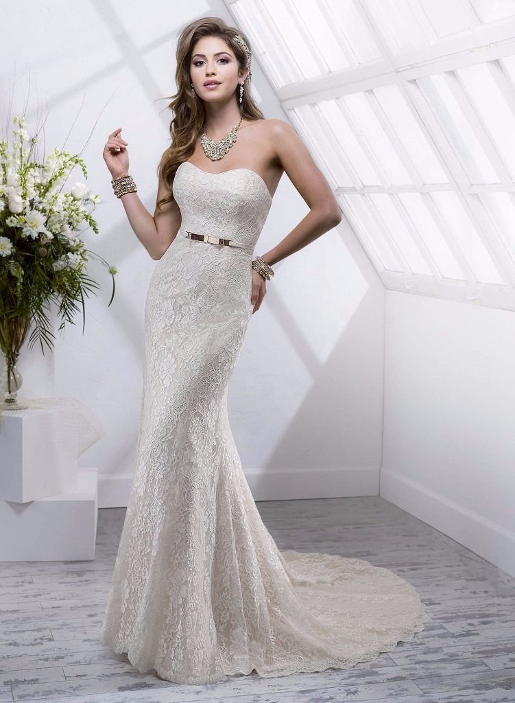 Sottero&Midgley gold lace gown size 16/18