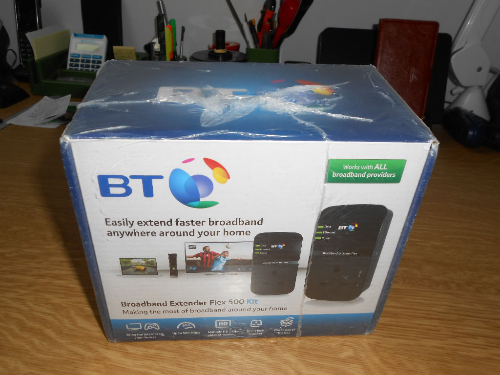 BT Broadband Extender Flex 500 Passthrough Powerline Homeplug Network Adapters sealed/BNiB