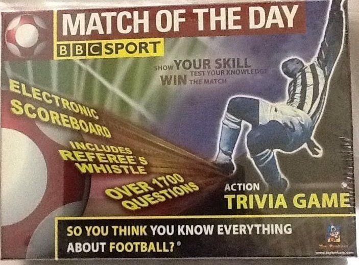 Match Of The Day BBC SPORT Trivia Board Game - New, Sealed in Box