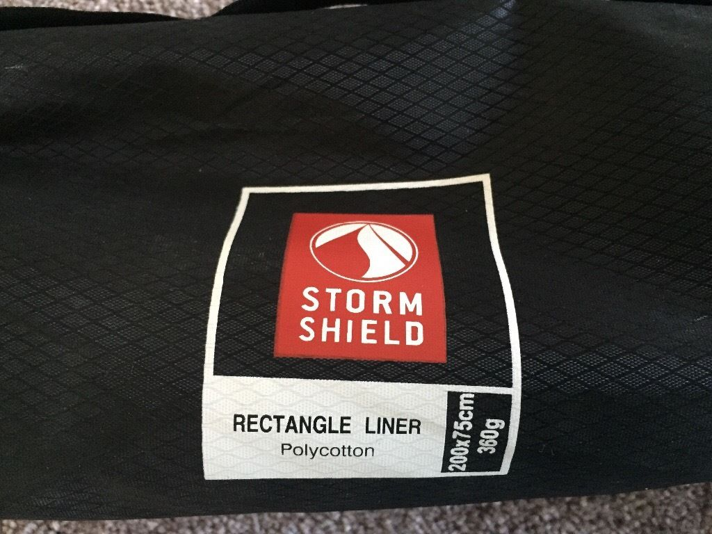 Storm Shield rectangle sleeping bag liner 200 X 75cm