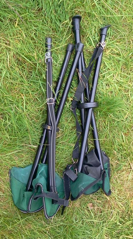 Two camping seats, matching, carry strap