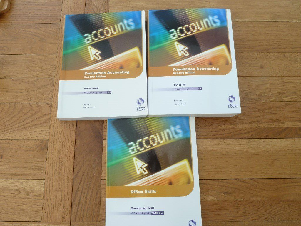 FOUNDATION ACCOUNTING NVQ BOOKS BY MICHAEL FARDON