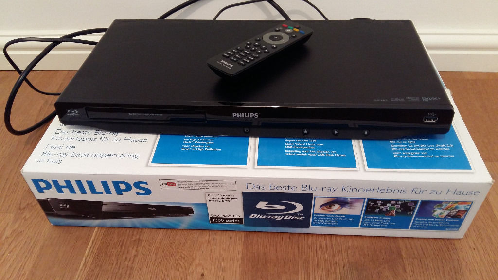 phillips blu ray player used twice in original box mint condition... cheap