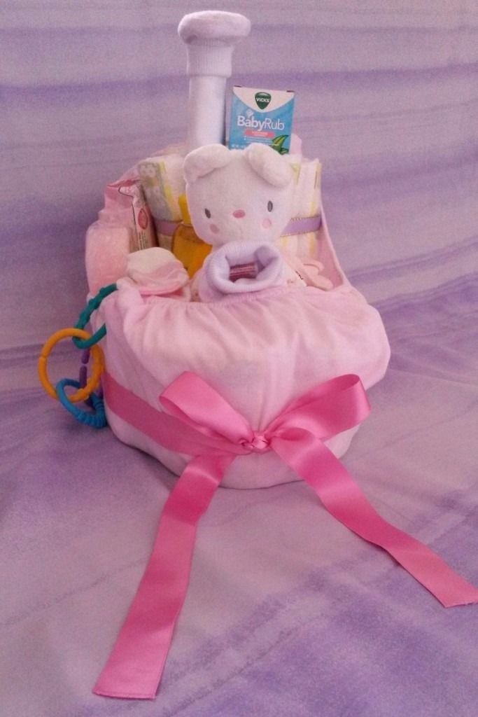 BRAND NEW! Ahoy! Little one! Sailor Boat Nappy Cake/ Gift Set- Perfect for a New Born Baby!