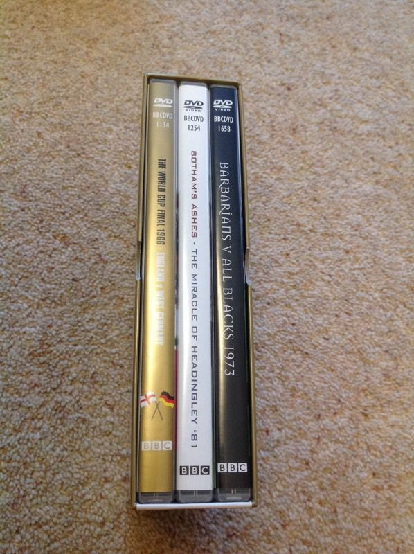 Box set of 3 DVD's - Greatest Sporting Moments