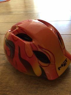Child's Met cycle helmet