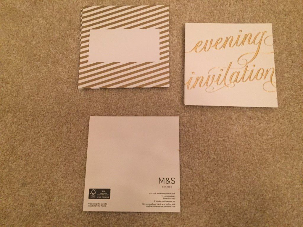 Evening invitation cards x 7