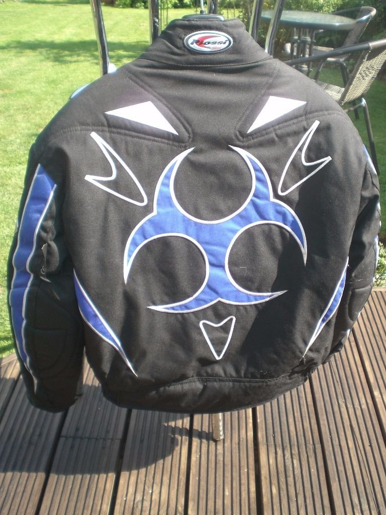 Ladies Blue/Black Motorbike Jacket