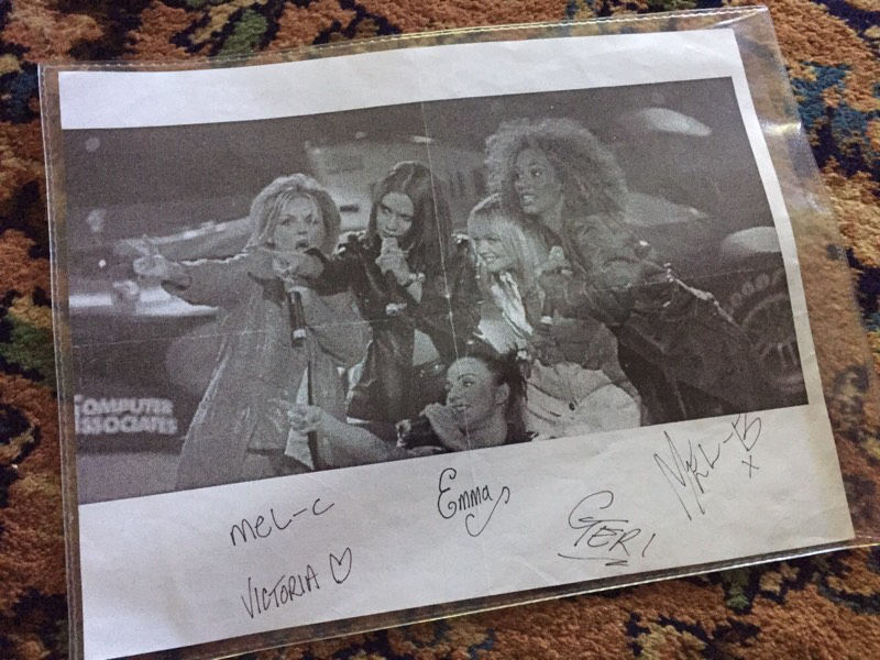 Spice Girls autographs from the early days.